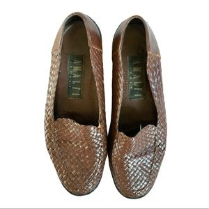 Amalfi Italy Leather Woven Loafers